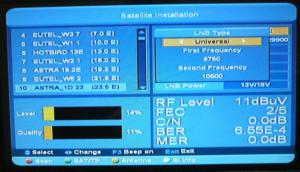 Nastavení satelitu astra 23,5 skylink